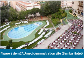 Figure 1 demEAUmed demonstration site (Samba Hotel)